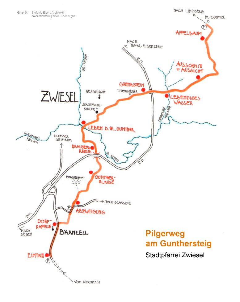 Pilgerweg am Gunther-Steig